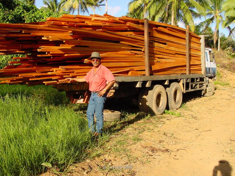 Truck Load of Sawn Timber Fiji